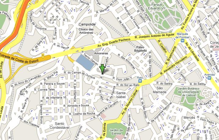 mapa de lisboa ruas Mapa mapa de lisboa ruas